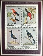 Penrhyn 1978 Discovery Of Hawaii Birds Sheetlet MNH - Vögel
