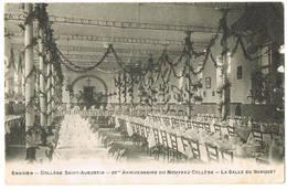 Enghien: Collège Saint-Augustin - 25ème Anniversaire Du Nouveau Collège - La Salle Du Banquet ( 2 Scans) - Enghien - Edingen