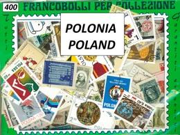 MIX DI 400 FRANCOBOLLI ASSORTITI SCELTI USATI POLONIA - 400 POLAND CANCELLED STAMPS - Collezioni
