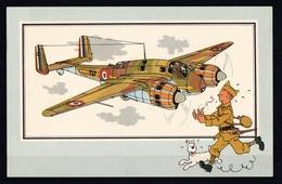 """Tintin : Chromo """" Voir Et Savoir """" Par Hergé : Aviation Guerre 1939-1945 : N° 15 Editions DARGAUD. - Autres"""
