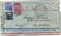 BRESIL LETTRE VIA AEREA -- COMPAGNIE GENERALE AEROPOSTALE DEPART NATAL 28 DEZ 30 POUR LA FRANCE - Luchtpost