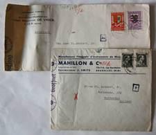 2x Enveloppe Censuré 1941 - Bruxelles/ Lier à Rotterdam - Weltkrieg 1939-45