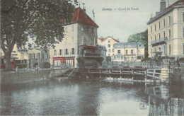 74 Haute SAVOIE Le Canal Du Vassé à ANNECY Carte Colorisée - Annecy