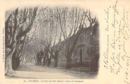 84 VAUCLUSE Cours De Bertheuil Sur Le Tour De Ville De VALREAS Carte Nuage Précurseur - Valreas