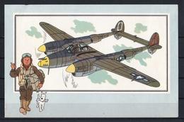 """Tintin : Chromo """" Voir Et Savoir """" Par Hergé : Aviation Guerre 1939-1945 : N° 24 Editions DARGAUD. - Autres"""