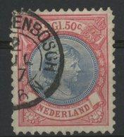 N° 47, 2 1/2 G Rose Et Outremer Cote 175 € (petite Fente Entre Deux Dents) - 1891-1948 (Wilhelmine)