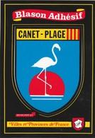 CPSM  66 CANET-PLAGE BLASON ADHESIF - Canet Plage