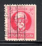 CUBA - YT 185 A OBLITERE FILIGRANE ETOILE NON DENTELE SUR UN COTE - Kuba