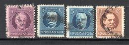 CUBA - LOT TIMBRES DE 1917 OBLITERES - Kuba