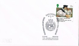 35747. Carta LONDON (England) 1988.  The POLISH INSTITUTE. Museum. Instituto Polaco - 1952-.... (Elizabeth II)