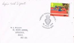 35748. Carta LONDON (England) 1986.  LEGION YOUTH And SPORTS. Games Edinburgh - 1952-.... (Elizabeth II)