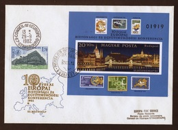 Hongrie - Hungary - Ungarn FDC 1982 Y&T N°BF162a - Michel N°B159B - EUROPA KSZE - Conseil De L'Europe - FDC