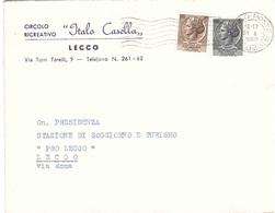 CIRCOLO RICREATIVO ITALO CASELLA LECCO - 1946-60: Marcophilia