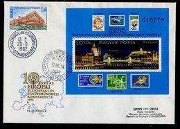 Hongrie - Hungary - Ungarn FDC 1982 Y&T N°BF162 - Michel N°B159A - EUROPA KSZE - Conseil De L'Europe - FDC