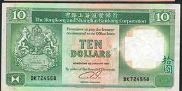 HONG-KONG P191c 10 DOLLARS 1990     VF NO P.h. - Hong Kong