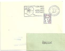 FINISTERE - Dépt N° 29 = LANDIVISIAU  1967 = FLAMME Codée SUPERBE =  SECAP Multiple ' PENSEZ + CODIFIEZ' - Codice Postale