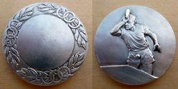 DB-033 Médaille Probable Bronze Argenté Signée Drago Contaux Discobole . - Sports