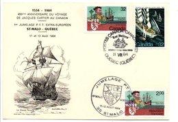 JUMELAGE PTT SAINT MALO-QUEBEC 1984 - Gedenkstempel