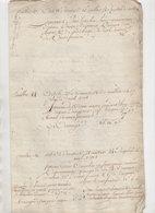 Vieux Papier 1790 De 6 Pages - Manuscripts