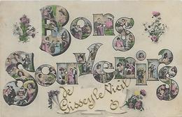 21, Cote D'Or, GISSEY LE VIEIL, Bons Souvenirs, Scan Recto-Verso - France