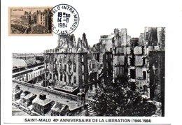 40 ANS LIBERATION DE SAINT MALO 1984 - Gedenkstempel