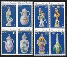 DDR 1979 2464 - 2471 Meissener Porzellan Viererblocks - Nuovi