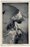 COURMAYEUR - GLACIER DU M. BLANC - MONTE BIANCO - AOSTA - 1925 - Vedi Retro - Formato Piccolo - Aosta