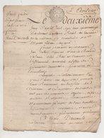 Touraine Montlouis 1780 - Manuscripts