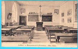 CPA LOBBES Pensionnat De La Visitation - Une Classe - Circulée - Ed. Desaix - 2 Scans - Lobbes