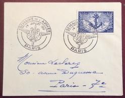 668 Semaine De L'Armée Paris 14/7/1951 Troupes Coloniales 889 Lettre - Postmark Collection (Covers)