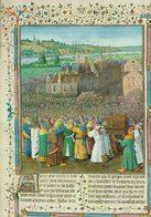 """Reproduction Sur Papier Tableau De Jean Fouquet """" La Prise De Jéricho Par L'armée De Josué 0 - Autres Collections"""