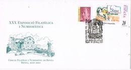 35752. Carta Exposicion RIPOLL (Gerona) 2001. Santa Maria Del CATLLAR - 1931-Hoy: 2ª República - ... Juan Carlos I