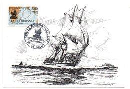 OBLITERATION LA BOURDONNAIS SAINT MALO 1988 - Gedenkstempel