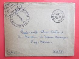 Thérèse ROSTAND - Lettre Infirmière U.F.F 22 SIM Secteur 310, Cachet Train Sanitaire Sud Est 22 SIM Oblitérée 30/10/1939 - Documents Historiques