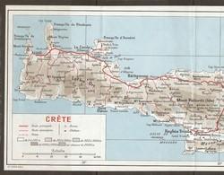 CARTE PLAN 1967 - 15,5 X 37,5 Cm - GRECE CRETE - GREECE - GRECIA - CARTE SCANNÉE En 2 PARTIES - Topographische Kaarten