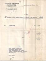 06 . ALPES MARITIMES . FACTURE / LETTRE . CAGNES SUR MER . LABO. TRIUMPH . 1947 - France