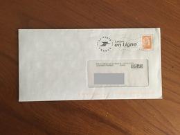 """PAP - PRET A POSTER ELECTRONIQUE """" Lettre En Ligne"""" Avec Vignette MARIANNE L'ENGAGEE @ - Oblitéré - Postal Stamped Stationery"""