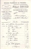 06 . ALPES MARITIMES . FACTURE / LETTRE . GRASSE . PHARMACIE DU PROGRES/ALBERT DAVID . 1912 - 1900 – 1949