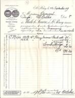 07 . ARDECHE . FACTURE / LETTRE . ST PERAY . VINS MALET-FAURE . 1919 - 1900 – 1949