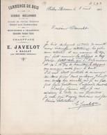 08 . ARDENNES . FACTURE / LETTRE . BALLAY . COMMERCE DE BOIS / E. JAVELOT . 1901 - 1900 – 1949