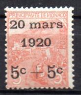Col18  Monaco N° 38 Neuf X MH  Cote 55,00 € - Monaco