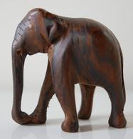 Petite Figurine éléphant En Bois Peint - Beeldjes