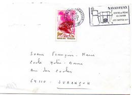 France N° 1747 Y. Et T. Pyrénées Atlantiques Navarrenx Flamme Illustrée Du 03/10/1973 Sur Lettre - Marcophilie (Lettres)