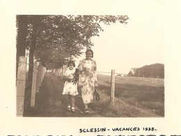 2 X Photo Foto ( 7 X 10 Cm ) Sclessin Vacances 1938 (regio Liège - Ougrée ) - Liege