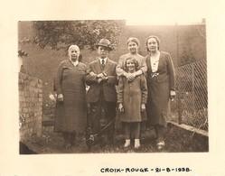 Photo Foto ( 7 X 10 Cm ) Croix-Rouge 1938 (regio Liège - Ougrée ??) - Liege