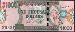 GUYANA P38d 1000 DOLLARS  #A/84 Signature 14 ( 2011 )     UNC. - Guyana
