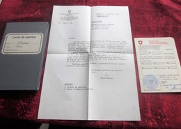 HELVETIA 3 DOCUMENTS HISTORIQUE:LIVRET SERVICE-CARTE IMMATRICULATION-LETTRE CONSUL SUISSE MARSEILLE 1969-RUSWIL-GEMENOS - Documenti Storici