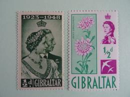 GIBRALTAR - 2 TIMBRES MNH++   -    N°119 Yvert (1948) Et 145 (1960)    -     Neufs Avec Gomme D'origine - Gibraltar