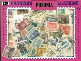 MIX DI 130 FRANCOBOLLI ASSORTITI SCELTI USATI POLONIA - POLAND 130 CANCELLED STAMPS - Collezioni