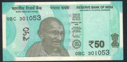 INDIA  P111c 50 RUPEES 2019 # 0BC    NO LETTER         UNC. - India
